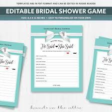 he said she said game template guess who bride or groom