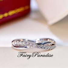 Tangled Wedding Rings by Twisted Infinity Wedding Band With Man Made Diamonds Stackable