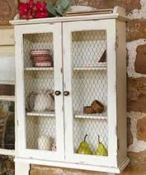 Chicken Wire Cabinet Doors Maybe The Lace In Front Of The Doors On The Small Wall Cabinet I