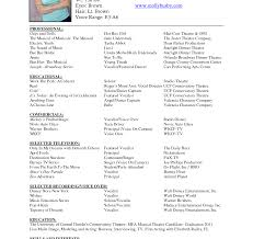 musical theatre resume exles musical theatre resume template free child theater sle word