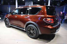 nissan armada rear 2017 nissan armada unveiled with 8 500 pound towing capacity