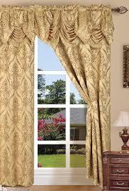54 Inch Curtains And Drapes Amazon Com Elegant Comfort Penelopie Jacquard Look Curtain Panels