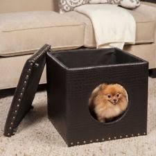 Dog Crate Furniture Bench Wooden Covered Dog Beds Ebay