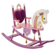 Shipping A Rocking Chair Princess Pink Wooden Rocking Horse Free Shipping Shop Now