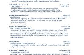 resume best self employed resume co construction management