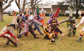 traditional cajun mardi gras costumes the of terror for mardi gras chickens inventio inventio