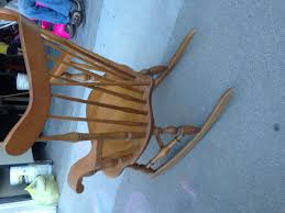 Antique Spindle Rocking Chair Cross Spindle Maple Rocking Chair Made In Japan Collectors Weekly