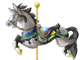 carousel horse coloring pages arterey info