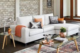 Small Chaise Lounge Sofa by Furniture Cream Velvet Sectional Sofa With Chaise On Cream Carpet