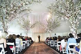 wedding trees ceremony décor photos tent ceremony with tree decorations