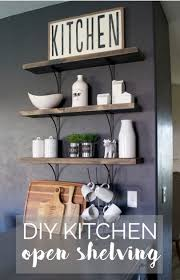 diy kitchen open shelving hello allison
