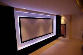 home theater projection screen custom home theater with drop down projector screen masking and