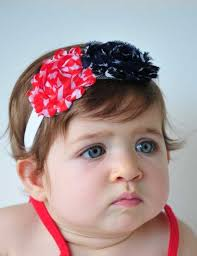 4th of july headband white and blue american flag baby headband toddler patriotic