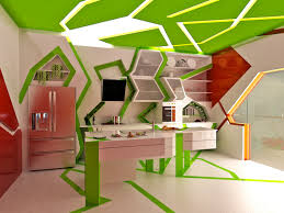 Kitchen Design Studio Decoration Fantastic Decoration In Quirky Cubism Style Cubism Of