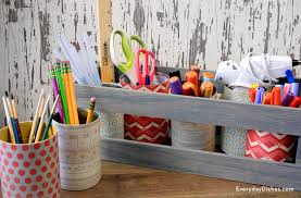 craft supply organizer everyday dishes diy