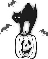 scary halloween clipart black and scary halloween cat clipart clipartxtras