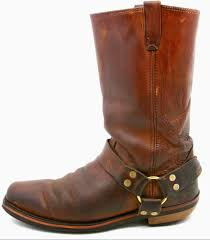 brown leather motorcycle boots mens harness motorcycle biker boots size 10 ee brown vintage