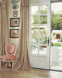 Gorgeous Shower Curtain by Ticking Curtains And Gorgeous French Doors Dining Room