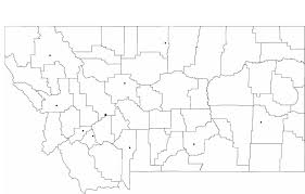 Montana Cities Map by Blank Montana City Map Free Download