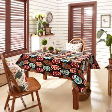 outdoor dining table cover colorful leaves printed dining table cloth rectangular tablecloth