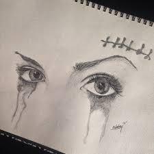 eye eyes eyelashes mascara tears cut crying artfido