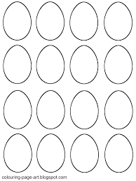 easter egg outlines templates u2013 happy easter 2017
