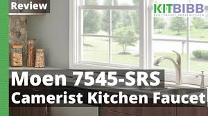review moen 7545 srs camerist kitchen faucet youtube