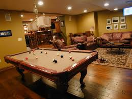 Cool Finished Basements Decorations Inspirational Basement Idea With Bar And Pool Table