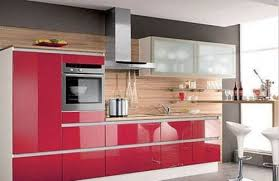 Red Gloss Kitchen Cabinets Red Kitchen Cabinets 3 Most Popular Cabinet Color Trends In 2017