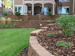 Lawn Landscape by Retaining Wall Designs Minneapolis Minneapolis Hardscaping