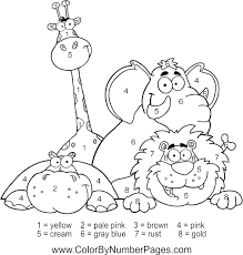 zoo animals color number fun kid printables