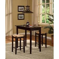 Breakfast Tables Sets Acme Kleef 3 Piece Brown Bar Table Set 70560 The Home Depot