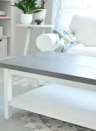 weathered gray wood top hemnes coffee table ikea hack this is