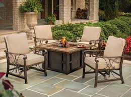 Propane Fire Pit Sets With Chairs Oakland Living Goldie U0027s Spring Rocking Deep Seating Chairs Propane