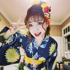 japanese traditional style kimono flower hairpin yukata hair