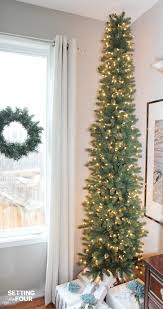 pencil christmas tree a pencil christmas tree style for narrow spaces setting for four
