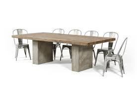 modrest renzo modern oak u0026 concrete dining table