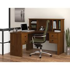 L Shaped Office Table Furniture Modern White Wooden Computer Desk With Low Book Case