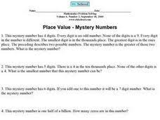 place value mystery numbers 5th 6th grade worksheet lesson planet