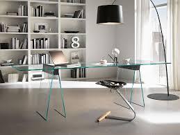 modern glass work desk awesome modern glass desk inside nella vetrina tonelli kasteel