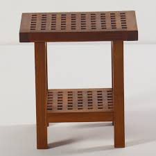 solid teak wood shower seat u0026 reviews birch lane