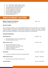 Resume Format For Mechanical Mechanical And Maintenance Fitter Resume Template 093