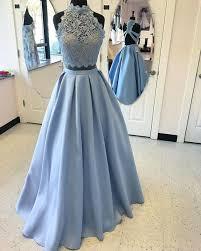 light blue formal dresses light blue lace two pieces long prom dress light blue evening dress