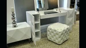 Vanity Set Furniture Mirrored Makeup Vanity Set Mirror With Lights And Desk Regarding