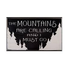 amazon com the mountains are calling and i must go wood sign for amazon com the mountains are calling and i must go wood sign for wall decor or gift perfect for vacation home home kitchen