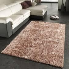 rug high pile shaggy carpet soft shiny long pile in beige shag