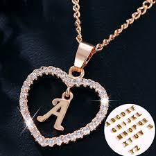 diy punk necklace images A to z letter name necklaces pendant for women girl fashion long jpg