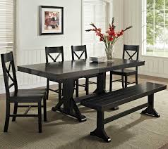 walmart better homes and gardens farmhouse table amazing dining set with bench style modern table ideas www
