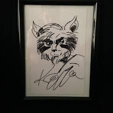 rocket raccoon sketch by keith giffen in brendan hovan u0027s my