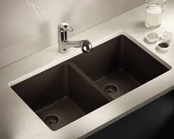 Under Mount Kitchen Sink by 802 Mocha Double Equal Bowl Trugranite Kitchen Sink